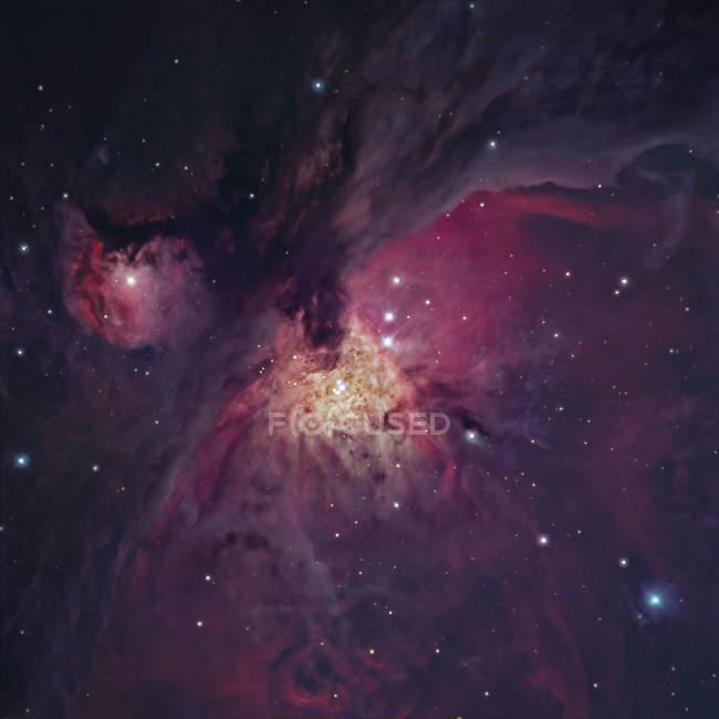 Starscape з туманність Оріона у Чумацького шляху — стокове фото