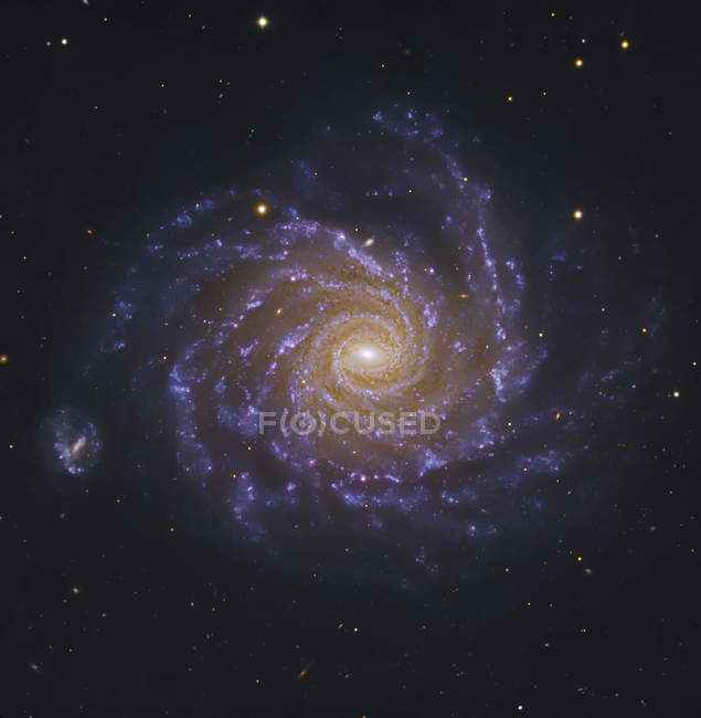 NGC1232 spiral galaxy in Eridanus constellation — Stock Photo