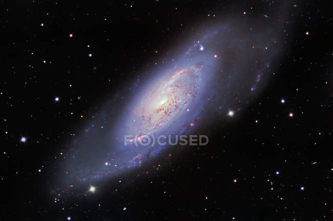 Starscape with Messier 106 Spiral Galaxy — Stock Photo
