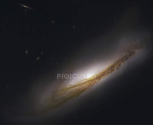 Ngc3190, galaxie spirale située dans la constellation du Lion — Photo de stock