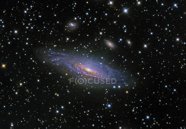 Starscape with NGC 7331 Galaxy — Stock Photo