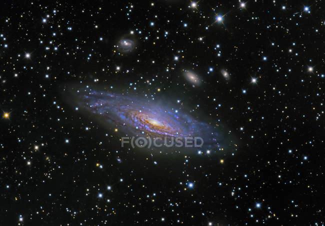 Starscape com Ngc 7331 galáxia — Fotografia de Stock
