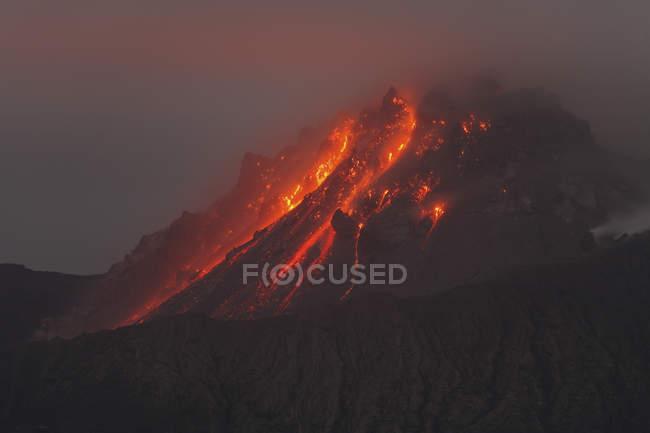 Erupção do Soufriere Hills — Fotografia de Stock