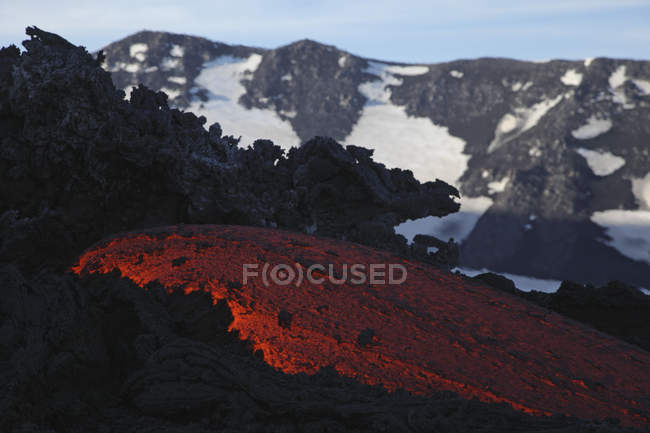 Coulée de lave de l'etna — Photo de stock