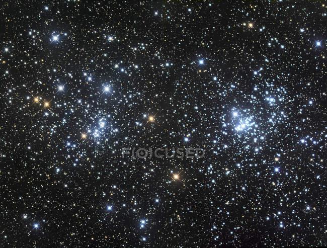 Doble racimo en la constelación Perseo - foto de stock