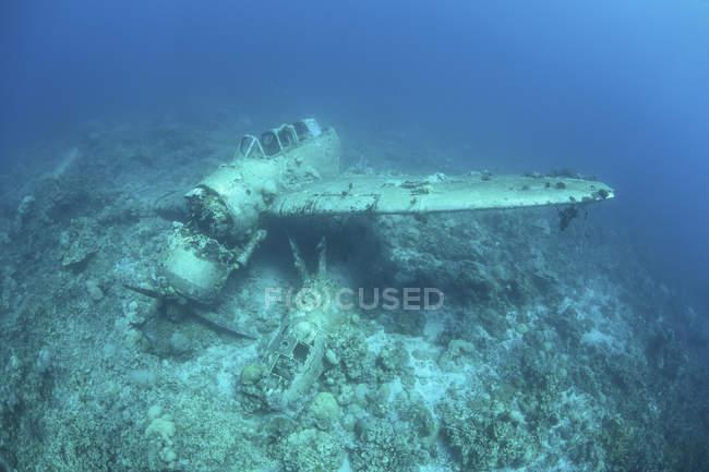Japanisches Jake-Wasserflugzeug auf dem Meeresboden — Stockfoto