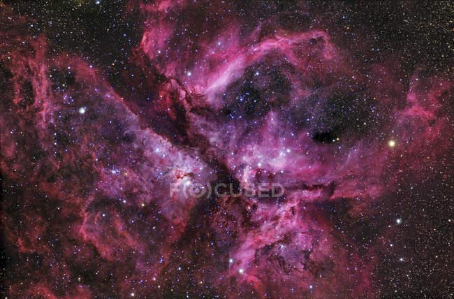 Ngc3372 туманність у сузір'ї Кіль — стокове фото