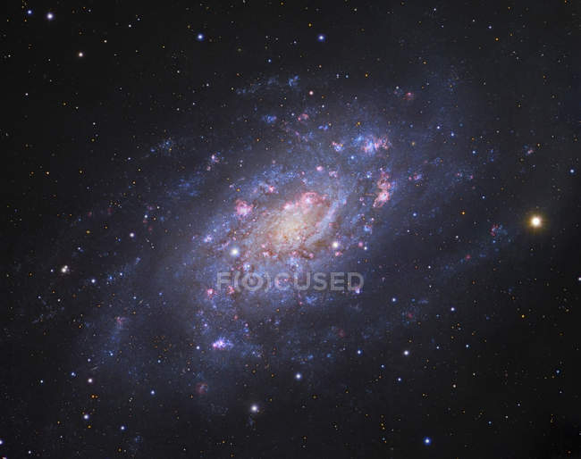 Starscape with spiral galaxy in Camelopardalis constellation — Stock Photo