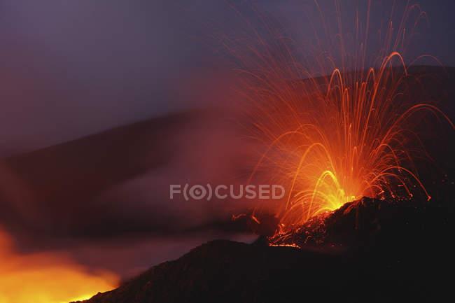 Erupção do Monte etna — Fotografia de Stock