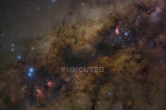 Starscape з центру з галактики Чумацький шлях — стокове фото