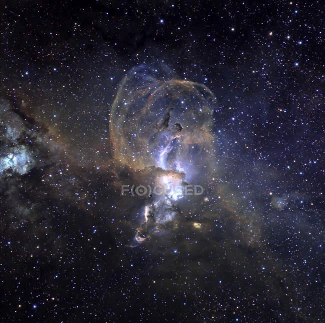 Loops of NGC3576 minor nebula — Stock Photo