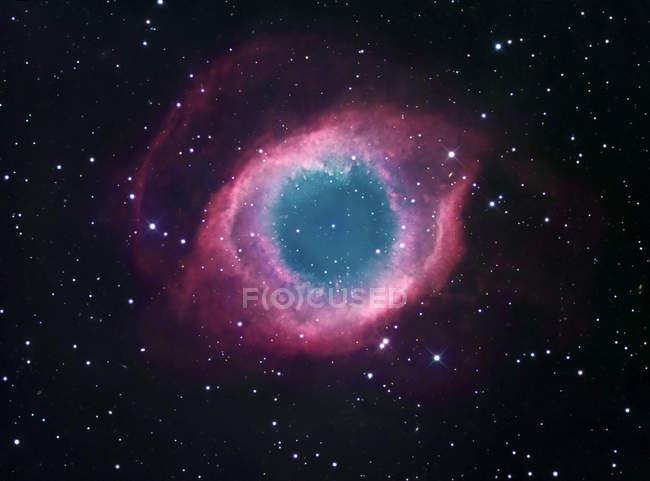 Helix nebula in constellation Aquarius — Stock Photo