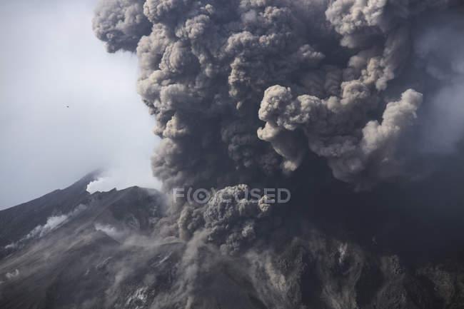 Sakurajima Ausbruch in Kagoshima — Stockfoto