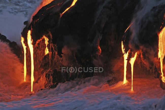 Кілауеа лавовий потік море запис — стокове фото