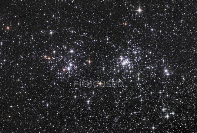 Double cluster in constellation Perseus — Stock Photo