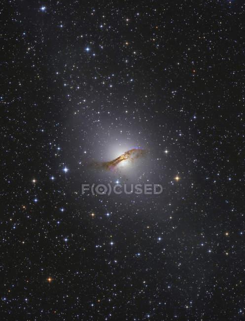 NGC5128 galaxia de radio en la constelación Centaurus - foto de stock