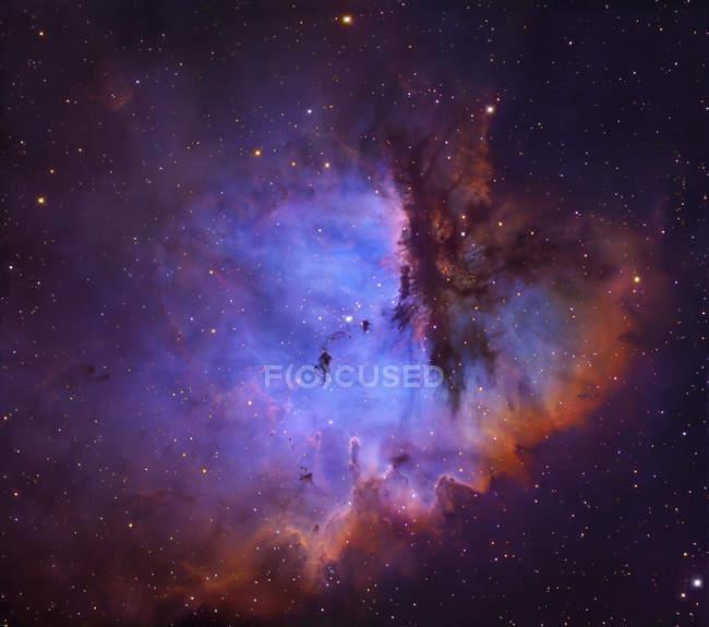 Starscape with NGC281 emission nebula — Stock Photo