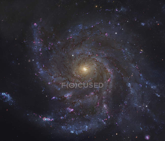 Colorful starscape with Pinwheel Galaxy — Stock Photo