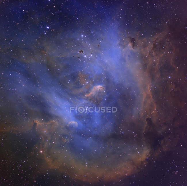 Thackeray Globules and Running Chicken Nebula — Stock Photo
