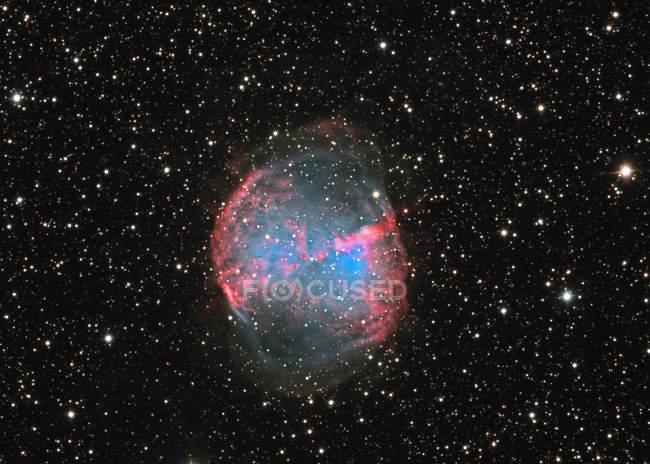 Starscape with Dumbbell nebula — Stock Photo