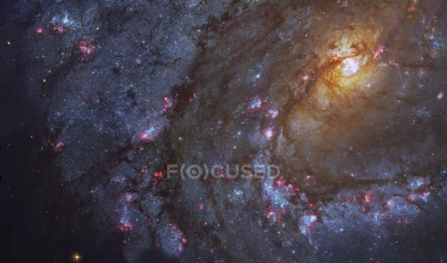 Southern Pinwheel galaxy in constellation Hydra — Stock Photo