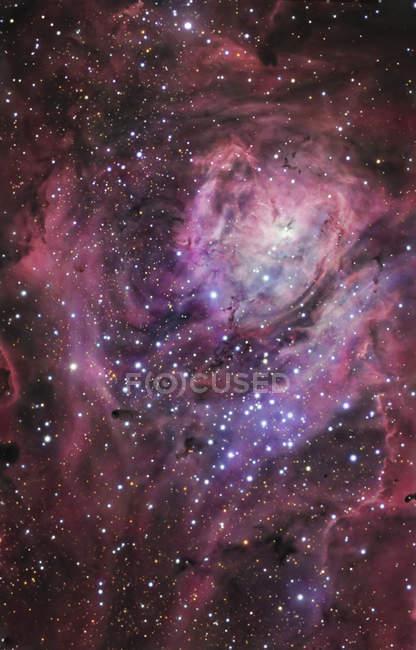 Lagoon nebula in constellation Sagittarius — Stock Photo