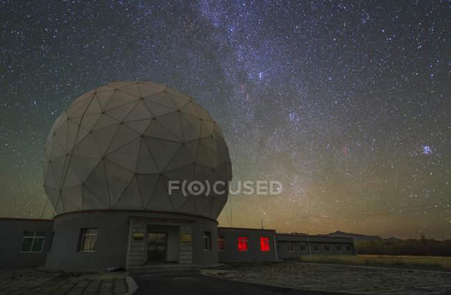 Чумацький шлях над Delinha обсерваторія — стокове фото