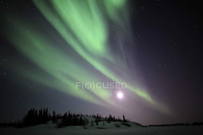 Aurora Borealis over Great Slave Lake — Stock Photo