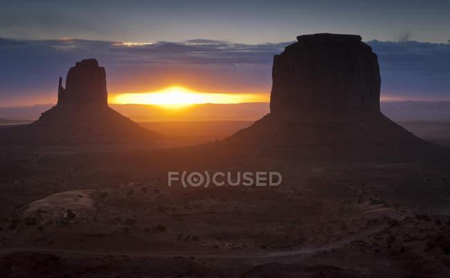 Formações de luva em Monument Valley — Fotografia de Stock