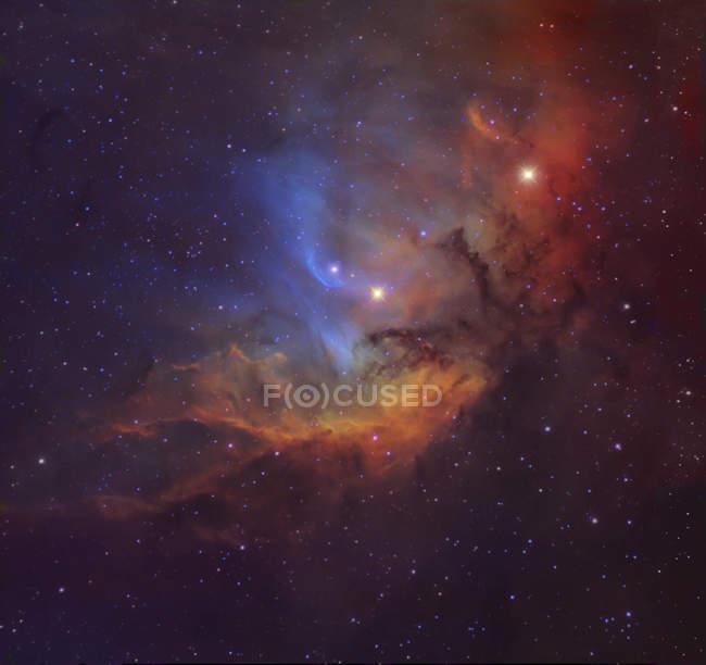 Starscape with Tulip nebula in Cygnus — Stock Photo