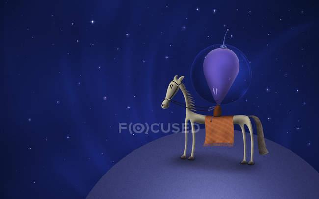 Mars-Reitpferd auf dem Planeten — Stockfoto