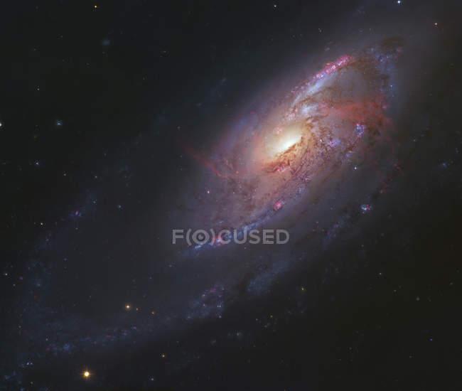 Starscape with spiral galaxy in Canes Venatici — Stock Photo