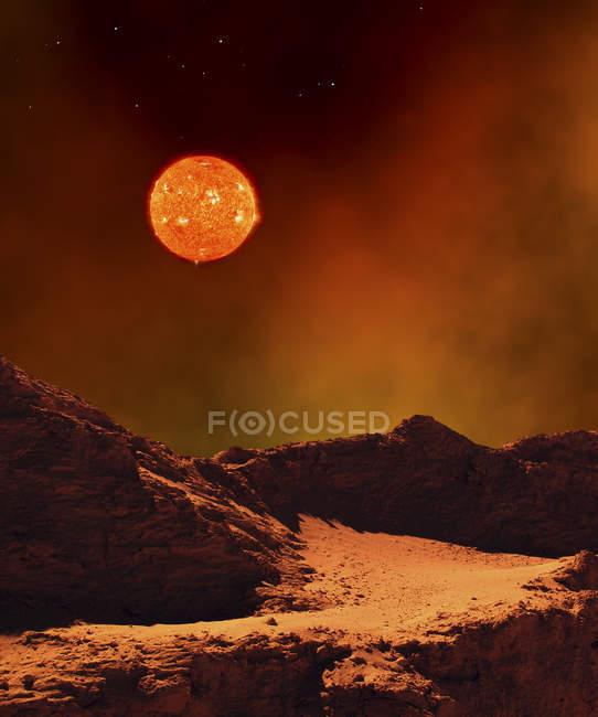 Deserted rocky landscape — Stock Photo