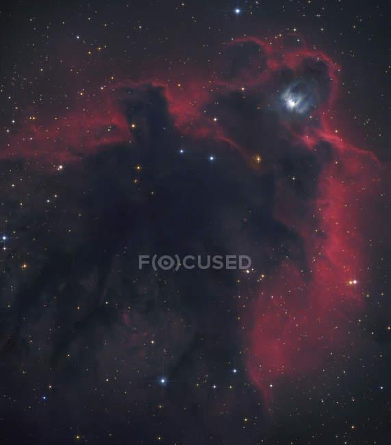 Paisaje estelar con globulo cometario en Orión - foto de stock
