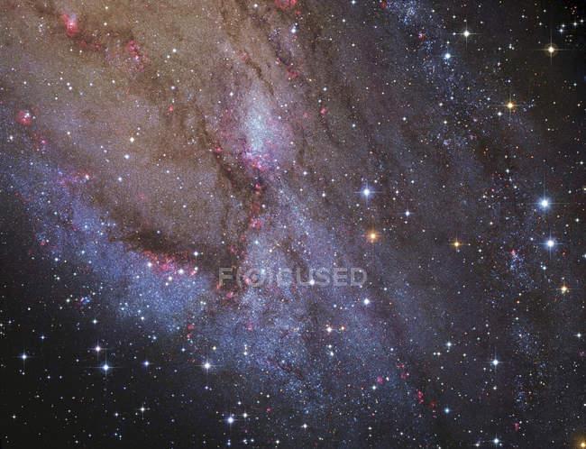 Spiral arm of Andromeda Galaxy — Stock Photo
