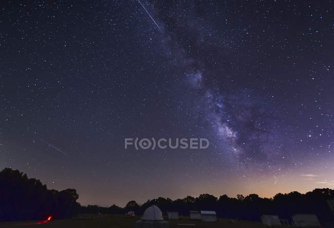 Perseid метеорів смуг по Чумацького шляху — стокове фото