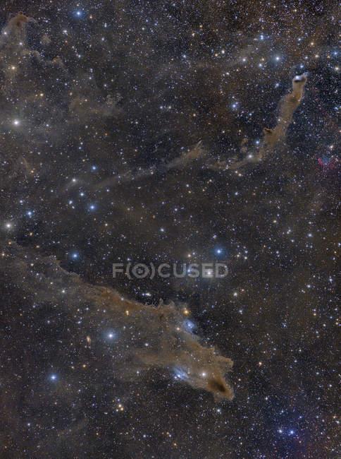 Colorful starscape with dusty nebula — Stock Photo