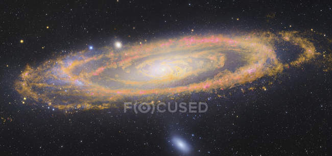 Starscape avec la galaxie d'Andromède — Photo de stock