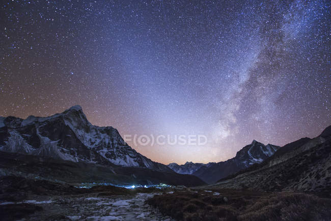 Milky way and zodiacal light — Stock Photo