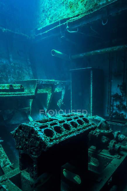 Interior de la habitación en USS Kittiwake naufragio - foto de stock