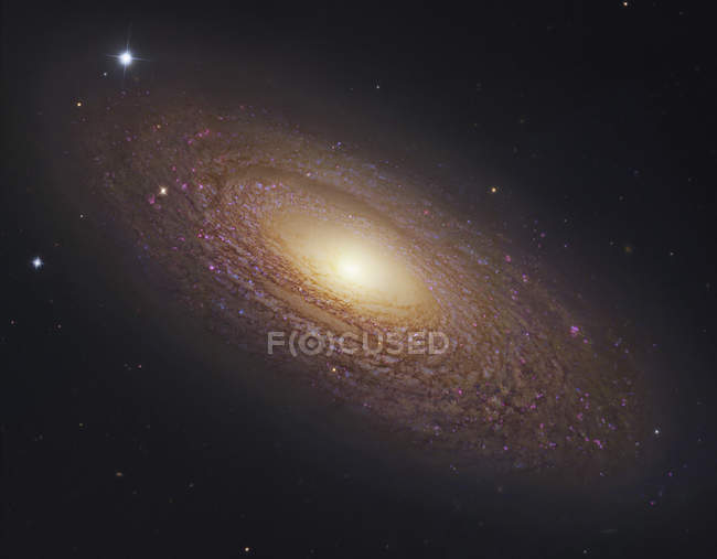 Starscape with spiral galaxy in Ursa Major — Stock Photo