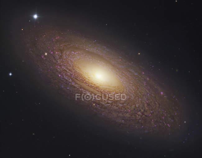 Panorama stellare con galassia a spirale in Orsa Maggiore — Foto stock