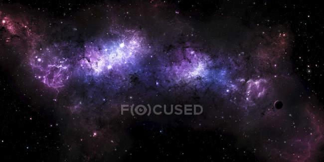 Massive colorful nebula — Stock Photo