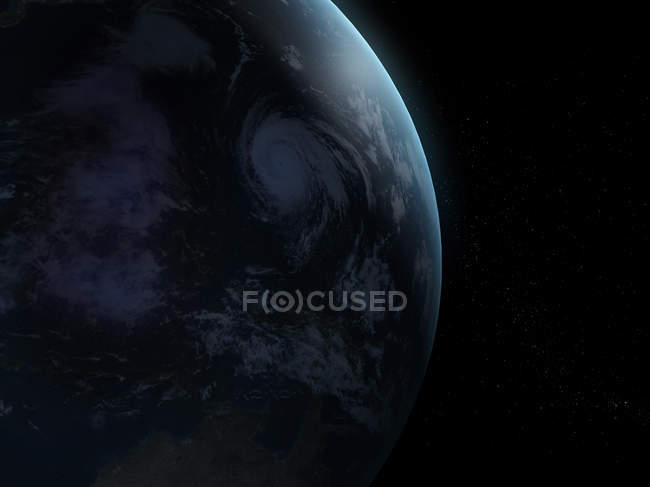 Shadowed Earth planet — Stock Photo