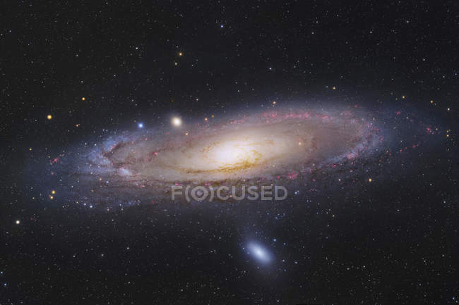 Starscape with Andromeda galaxy — Stock Photo