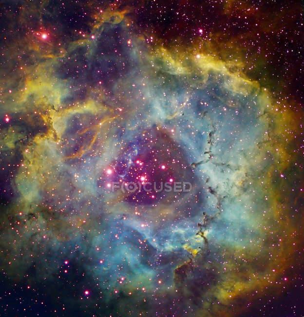 Rosette nebula NGC 2244 in Monoceros — Stock Photo