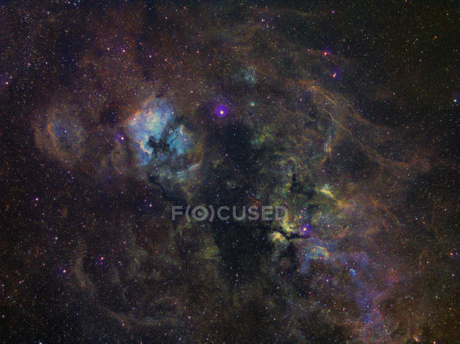 Widefield image of narrowband emission in Cygnus - foto de stock
