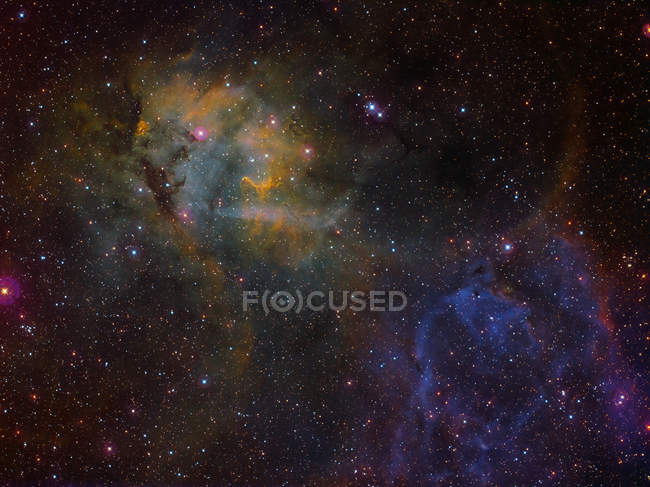 Sharpless 2-132 emission nebula in true colors in high resolution — Stock Photo