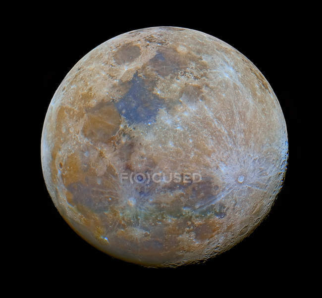Full moon in color, in high resolution, Buenos Aires, Argentina — Stock Photo