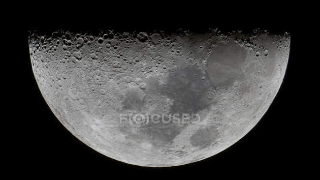 Lunar-X visible only for few hours on moon surface — Stock Photo